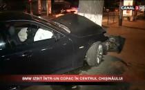 BMW IZBIT ÎNTR-UN COPAC ÎN CENTRUL CHIȘINĂULUI
