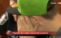 POLIŢIST DE LA BRO, ATACAT DE UN INDIVID