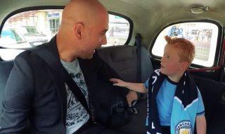 """Într-o perioadă """"încinsă"""" de transferuri, Guardiola se ține de fapte frumoase. Sau cel puțin încearcă să se pună bine cu fanii de la Manchester City încă din primele zile. Pep i-a pregătit o surpriză inedită unui copil, fan de-alui City: l-a scos la plimbare în taxi. Puștiul de șapte ani nici nu bănuia ce surpriză... Post-ul Pep i-a pregătit o surpriză inedită unui copil apare prima dată în CANAL 3."""