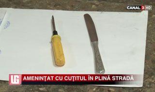 Ameninţat cu cuţitul în plină stradă